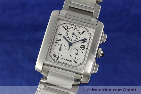 Used luxury watch Cartier Tank Francaise chronograph steel quartz Kal. 212P VINTAGE  | 141979 04