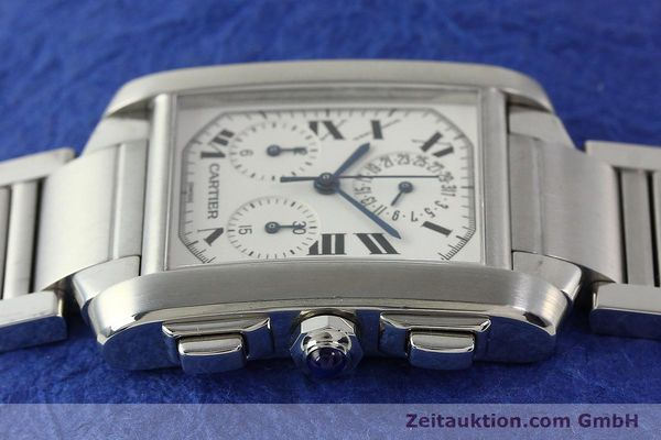 Used luxury watch Cartier Tank Francaise chronograph steel quartz Kal. 212P VINTAGE  | 141979 05