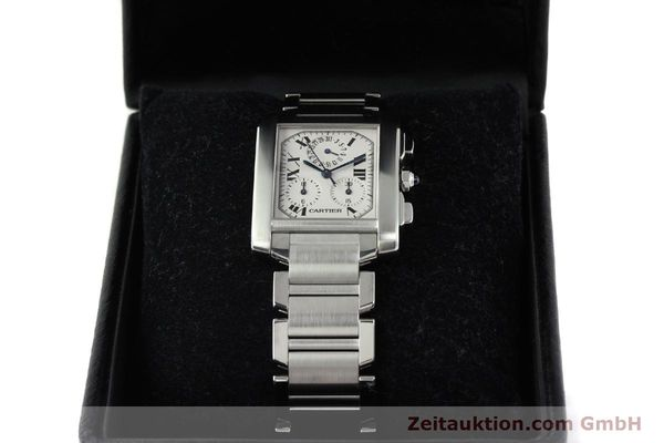 Used luxury watch Cartier Tank Francaise chronograph steel quartz Kal. 212P VINTAGE  | 141979 07