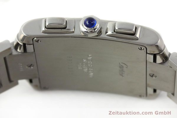 Used luxury watch Cartier Tank Francaise chronograph steel quartz Kal. 212P VINTAGE  | 141979 08