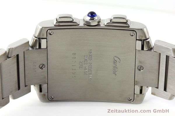 Used luxury watch Cartier Tank Francaise chronograph steel quartz Kal. 212P VINTAGE  | 141979 09