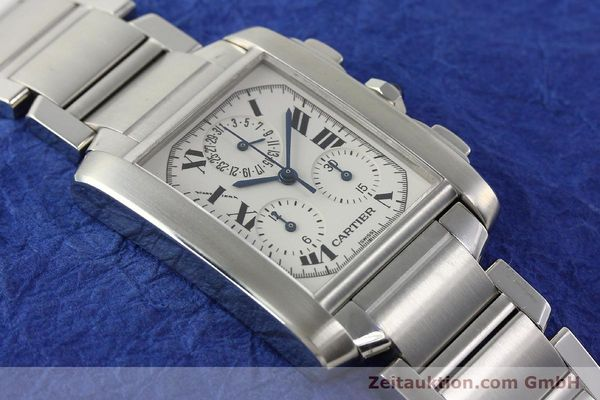 Used luxury watch Cartier Tank Francaise chronograph steel quartz Kal. 212P VINTAGE  | 141979 12