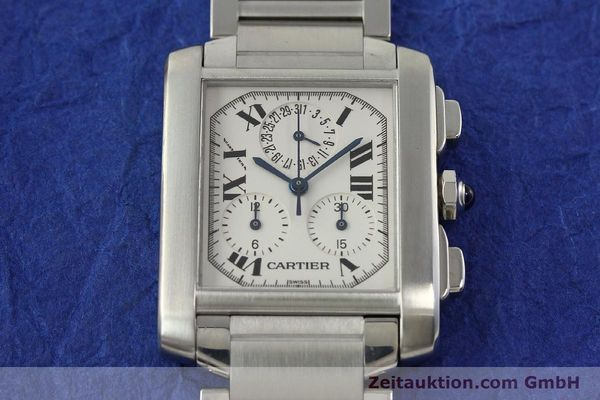 Used luxury watch Cartier Tank Francaise chronograph steel quartz Kal. 212P VINTAGE  | 141979 13