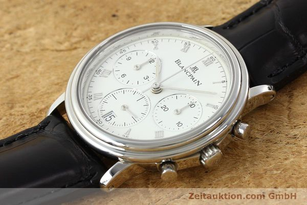Used luxury watch Blancpain Villeret chronograph steel automatic Kal. 1185  | 141980 01
