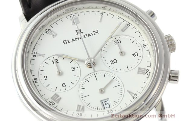 Used luxury watch Blancpain Villeret chronograph steel automatic Kal. 1185  | 141980 02