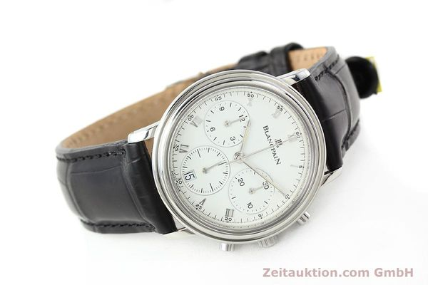 Used luxury watch Blancpain Villeret chronograph steel automatic Kal. 1185  | 141980 03