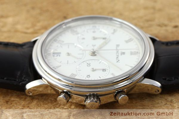 Used luxury watch Blancpain Villeret chronograph steel automatic Kal. 1185  | 141980 05
