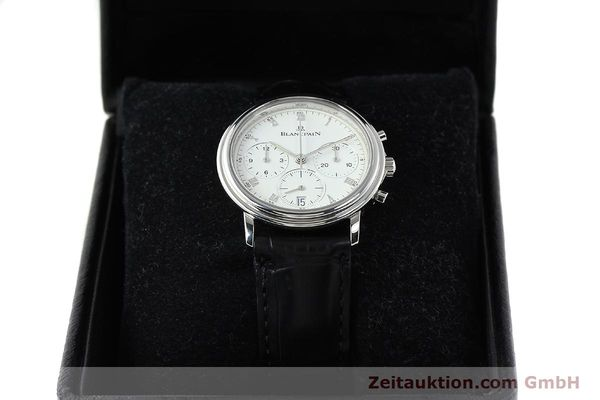 Used luxury watch Blancpain Villeret chronograph steel automatic Kal. 1185  | 141980 07
