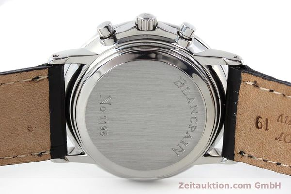 Used luxury watch Blancpain Villeret chronograph steel automatic Kal. 1185  | 141980 09
