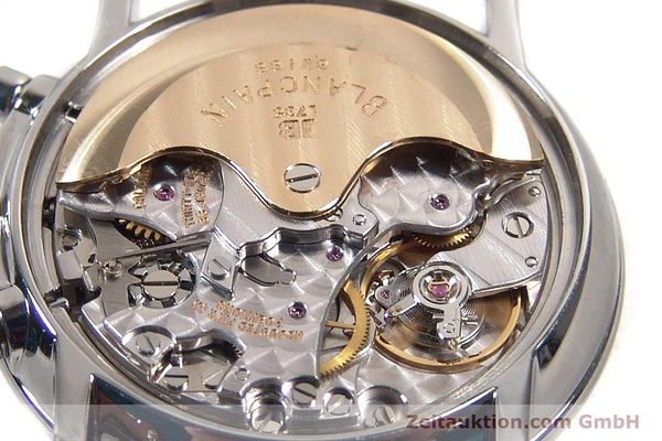 Used luxury watch Blancpain Villeret chronograph steel automatic Kal. 1185  | 141980 10