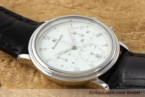 Used luxury watch Blancpain Villeret chronograph steel automatic Kal. 1185  | 141980 13
