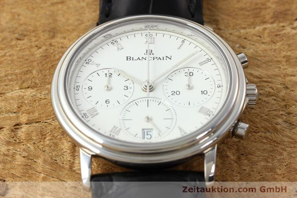 Used luxury watch Blancpain Villeret chronograph steel automatic Kal. 1185  | 141980 14