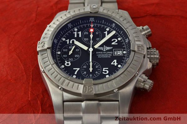 Used luxury watch Breitling Avenger chronograph titanium automatic Kal. B13 ETA 7750 Ref. E13360  | 141982 13