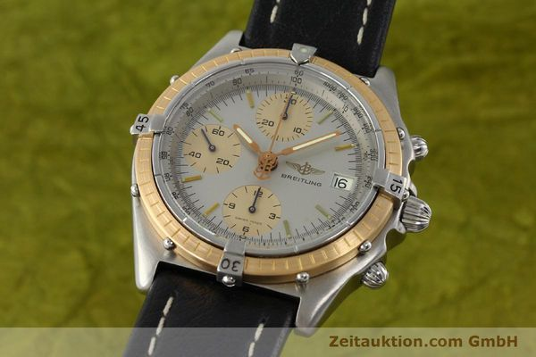Used luxury watch Breitling Chronomat chronograph steel / gold automatic Kal. VAL 7750 Ref. 81.950  | 141983 04