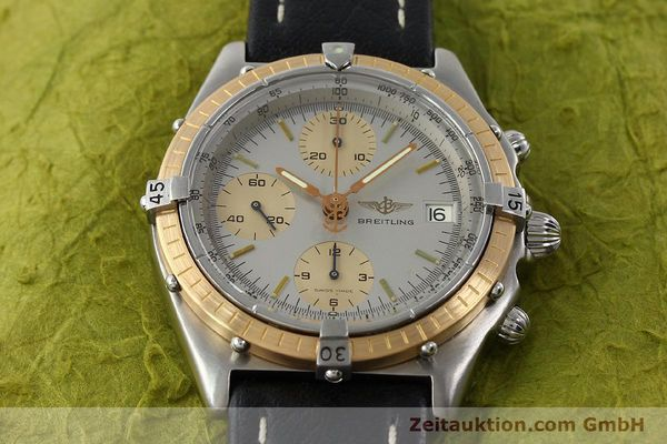 Used luxury watch Breitling Chronomat chronograph steel / gold automatic Kal. VAL 7750 Ref. 81.950  | 141983 14