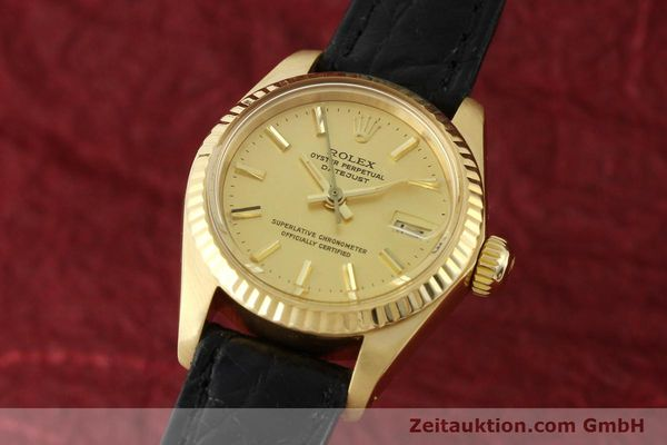montre de luxe d occasion Rolex Lady Datejust or 18 ct automatique Kal. 2030 Ref. 6917  | 141993 04