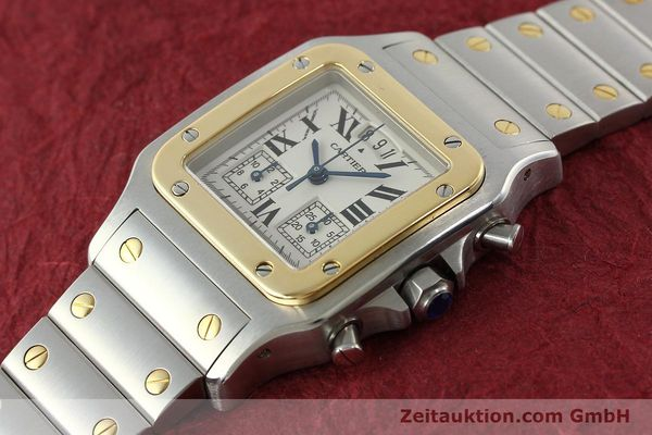 Used luxury watch Cartier Santos chronograph steel / gold quartz Kal. 222  | 141994 01