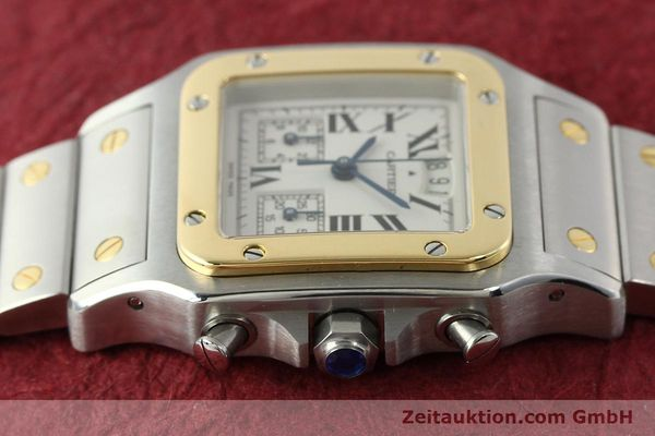 Used luxury watch Cartier Santos chronograph steel / gold quartz Kal. 222  | 141994 05