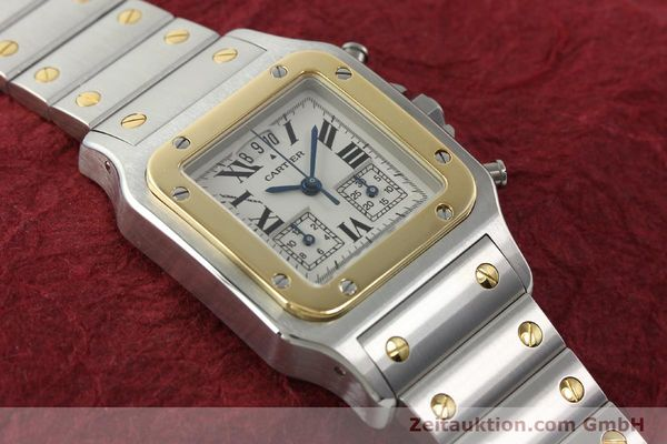 Used luxury watch Cartier Santos chronograph steel / gold quartz Kal. 222  | 141994 13