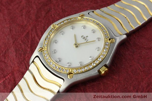 Used luxury watch Ebel Classic Wave steel / gold quartz Kal. 81 Ref. 181930X  | 141999 01