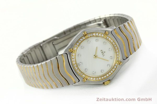 Used luxury watch Ebel Classic Wave steel / gold quartz Kal. 81 Ref. 181930X  | 141999 03