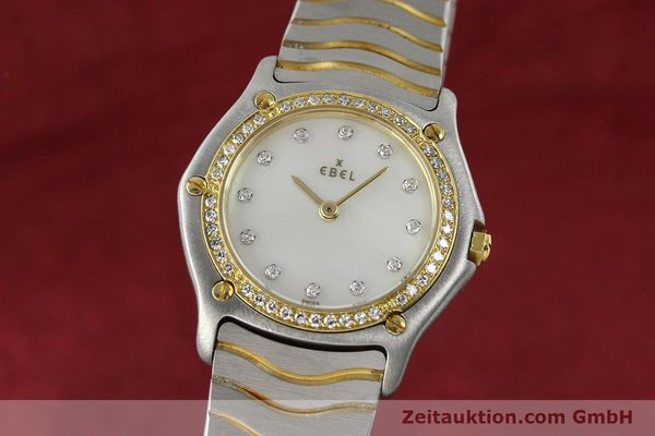 Used luxury watch Ebel Classic Wave steel / gold quartz Kal. 81 Ref. 181930X  | 141999 04