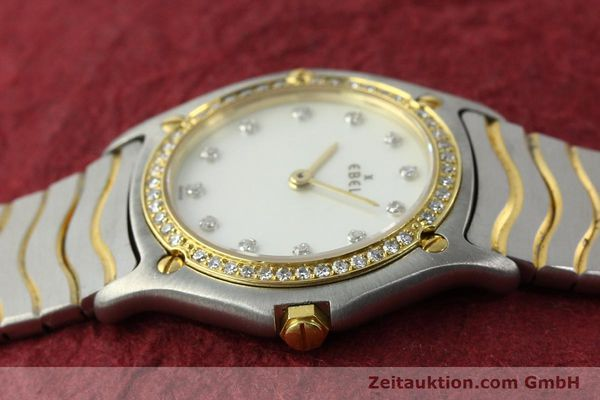 Used luxury watch Ebel Classic Wave steel / gold quartz Kal. 81 Ref. 181930X  | 141999 05