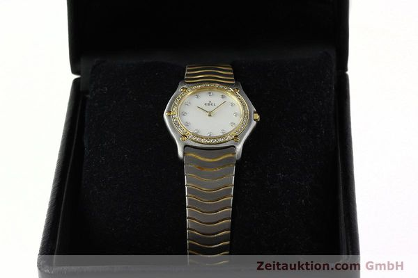Used luxury watch Ebel Classic Wave steel / gold quartz Kal. 81 Ref. 181930X  | 141999 07