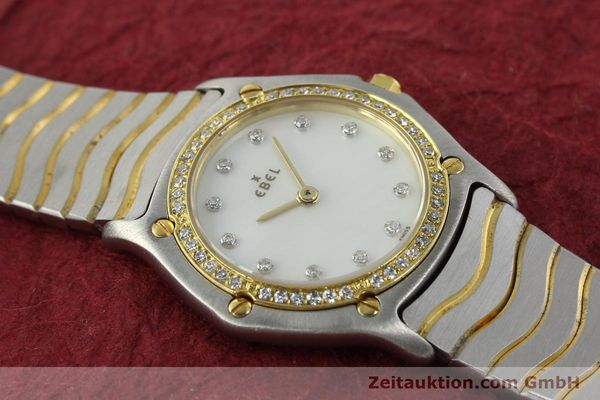 Used luxury watch Ebel Classic Wave steel / gold quartz Kal. 81 Ref. 181930X  | 141999 12