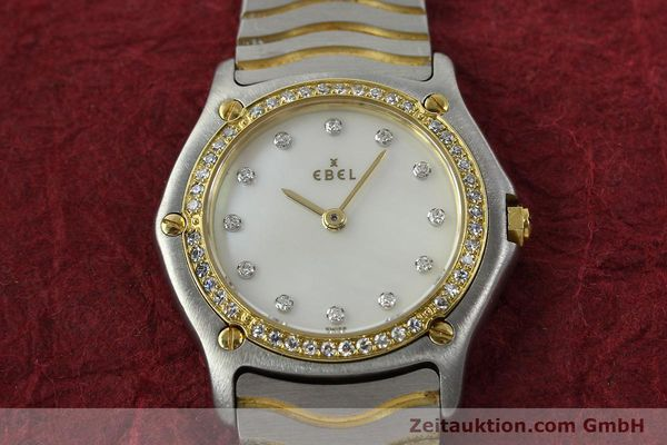 Used luxury watch Ebel Classic Wave steel / gold quartz Kal. 81 Ref. 181930X  | 141999 13