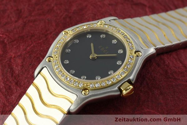 Used luxury watch Ebel Classic Wave steel / gold quartz Kal. 057 Ref. 1057902  | 142000 01