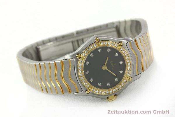 Used luxury watch Ebel Classic Wave steel / gold quartz Kal. 057 Ref. 1057902  | 142000 03
