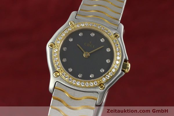 Used luxury watch Ebel Classic Wave steel / gold quartz Kal. 057 Ref. 1057902  | 142000 04