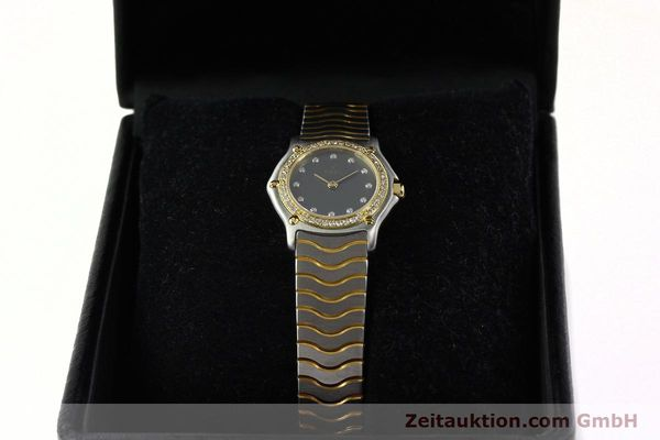 Used luxury watch Ebel Classic Wave steel / gold quartz Kal. 057 Ref. 1057902  | 142000 07
