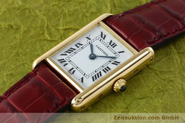 Used luxury watch Cartier Tank 18 ct gold quartz Kal. 057  | 142002 01