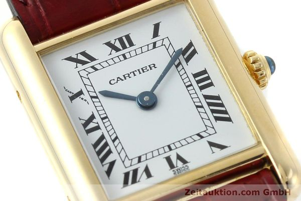Used luxury watch Cartier Tank 18 ct gold quartz Kal. 057  | 142002 02