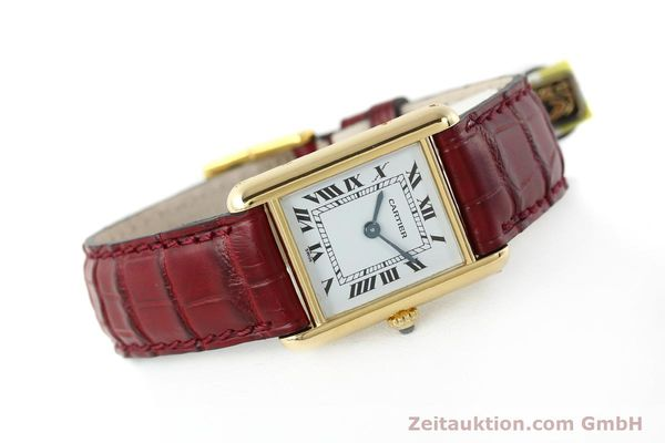 Used luxury watch Cartier Tank 18 ct gold quartz Kal. 057  | 142002 03