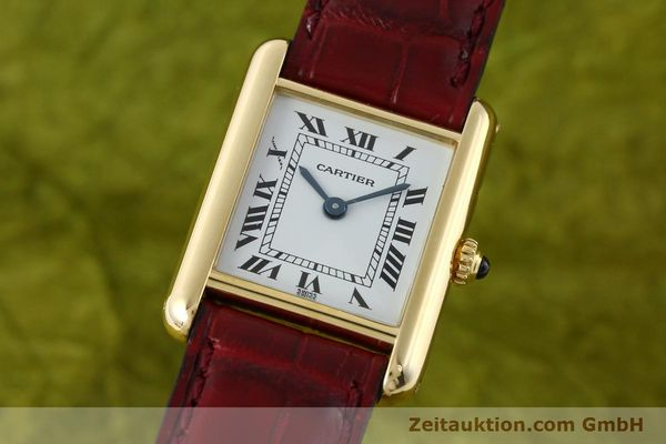 Used luxury watch Cartier Tank 18 ct gold quartz Kal. 057  | 142002 04