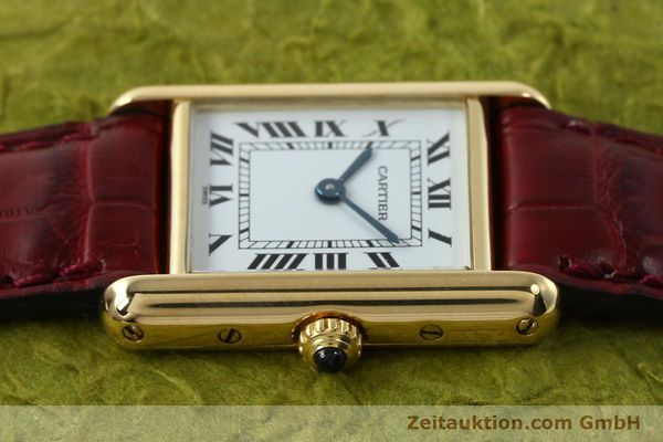 Used luxury watch Cartier Tank 18 ct gold quartz Kal. 057  | 142002 05