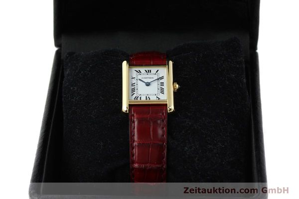 Used luxury watch Cartier Tank 18 ct gold quartz Kal. 057  | 142002 07