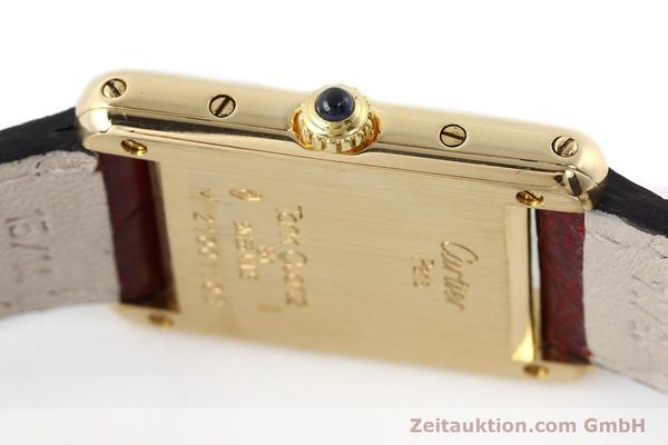 Used luxury watch Cartier Tank 18 ct gold quartz Kal. 057  | 142002 08