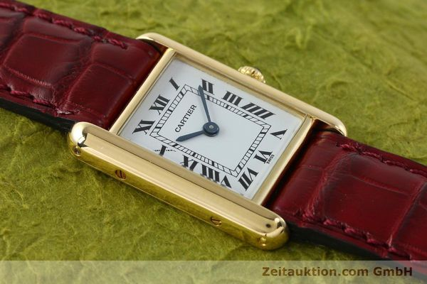 Used luxury watch Cartier Tank 18 ct gold quartz Kal. 057  | 142002 12
