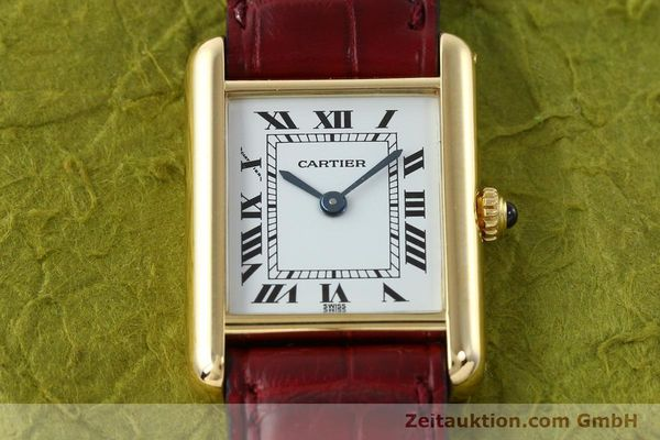 Used luxury watch Cartier Tank 18 ct gold quartz Kal. 057  | 142002 13