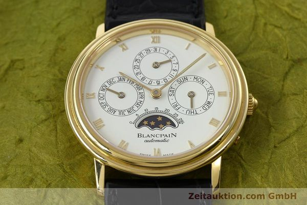 montre de luxe d occasion Blancpain Villeret or 18 ct automatique Kal. 95  | 142004 18