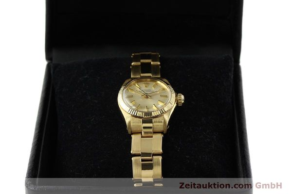 Used luxury watch Rolex Oyster Perpetual 18 ct gold automatic Kal. 2030 Ref. 6719  | 142005 07
