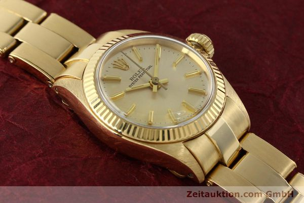 Used luxury watch Rolex Oyster Perpetual 18 ct gold automatic Kal. 2030 Ref. 6719  | 142005 16