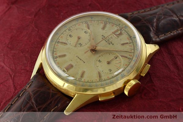 Used luxury watch Breitling Cadette chronograph 18 ct gold manual winding Kal. Venus 188 Ref. 1197  | 142006 01