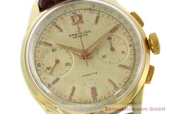 Used luxury watch Breitling Cadette chronograph 18 ct gold manual winding Kal. Venus 188 Ref. 1197  | 142006 02