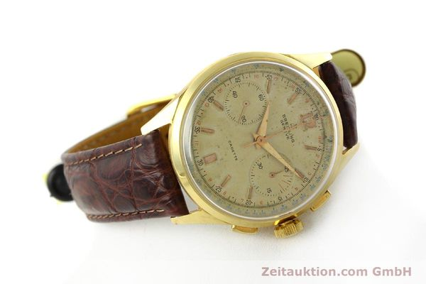 Used luxury watch Breitling Cadette chronograph 18 ct gold manual winding Kal. Venus 188 Ref. 1197  | 142006 03