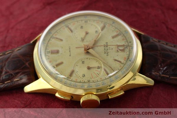 Used luxury watch Breitling Cadette chronograph 18 ct gold manual winding Kal. Venus 188 Ref. 1197  | 142006 05